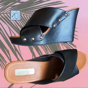 SOLD Jessica Simpson Jozie Stud Wedge Sandals Sz 7